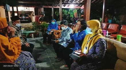 Pendataan keluarga Tahun 2021 Keluarga Lurah Timbulharjo, Anif Arkham Haibar, S.Pd